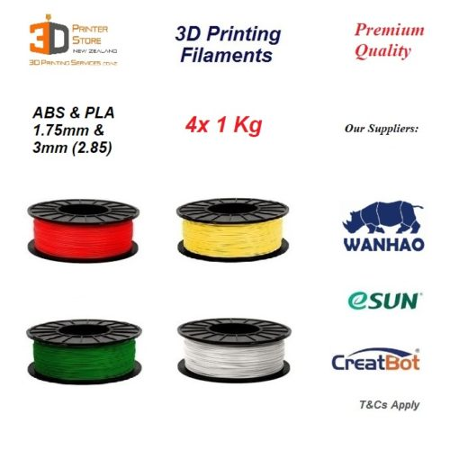 Premium 3D Printer filament 4x NZ