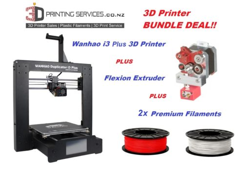Wanhao i3 plus 3D Printer bundle NZ - Flexion - 2x Filaments