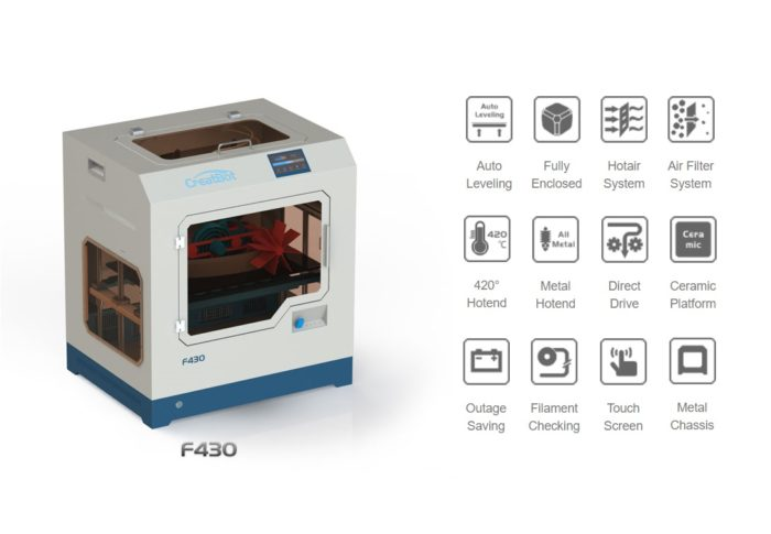 Creatbot F430 3d printer NZ features