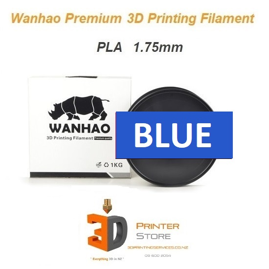 Wanhao Blue pla filament 175mm 1Kg from 3d printer store nz