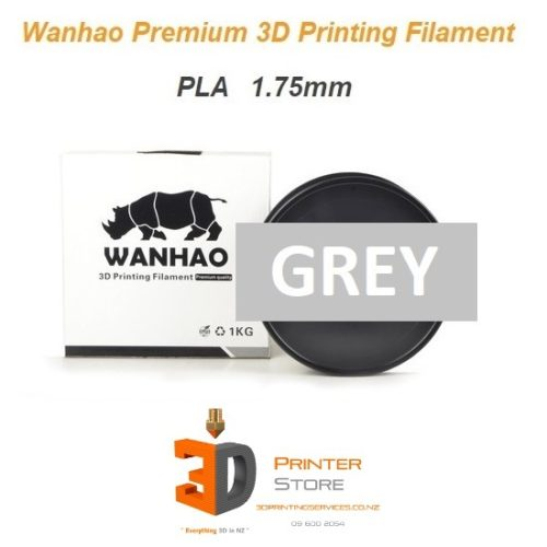 Wanhao Gray pla filament 175mm 1Kg - 3d printer store nz