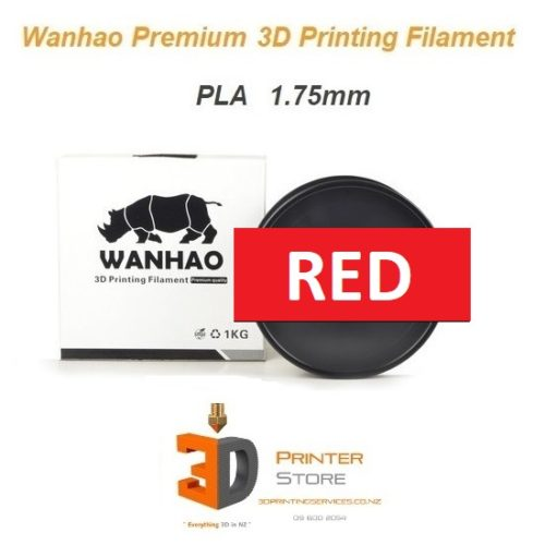 Wanhao Red pla filament 175mm 1Kg from 3d printer store nz