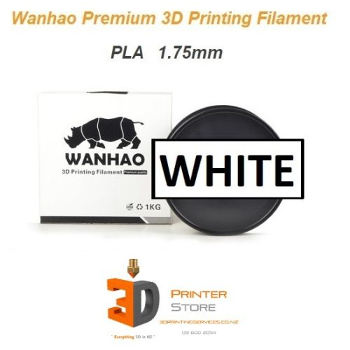 Wanhao White pla filament 175mm 1Kg at 3d printer store nz