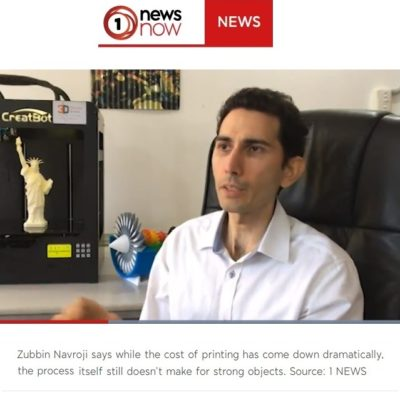 Zubbin 3D Printer Expert Interview One News NZ