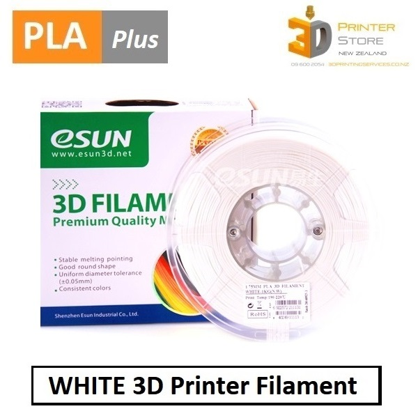 eSun PLA+ White Filament from 3D Printer Store NZ|