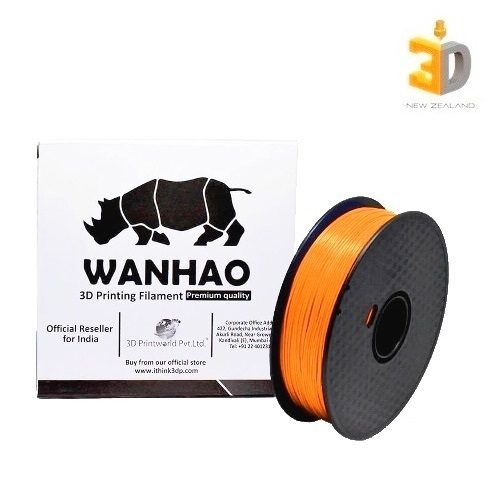 Wanhao Orange PLA Filament 3D Printer Store New Zealand